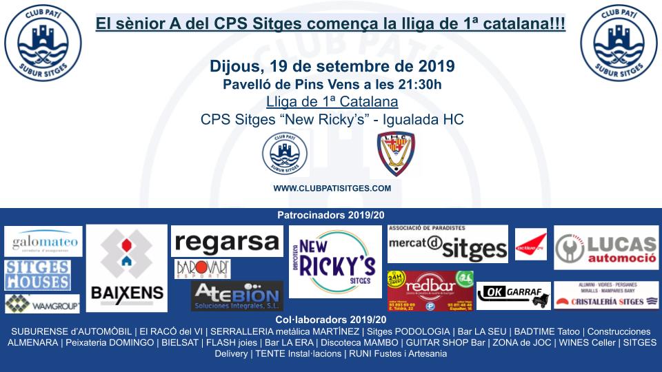 1a jornada lliga 2019-20: CPS Sitges - Igualada HC