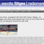 Entrevista al president del CPS Sitges a Ràdio Maricel Abril 2020