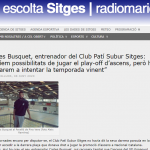 Entrevista a Carles Busquet, entrenador del  CPS sitges (Ràdio Maricel 8/6/2020)