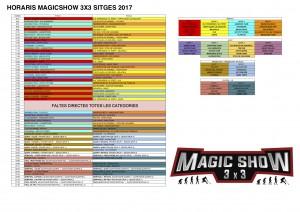 HORARIS MAGICSHOW 3X3 SITGES 2017