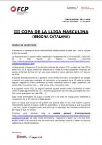 Copa lliga 2ª Catalana 2017/18: bases (1)