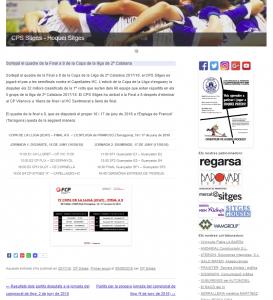 Sortejat el quadre de la Final a 8 de la Copa de la lliga de 2ª Catalana Hoquei Sitges