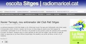 Xavier Tarragó  nou entrenador del Club Patí Sitges « Ràdio Maricel de Sitges. 107.8 FM