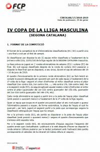 Bases competicio - IV copa lliga 2a catalana 2018-2019