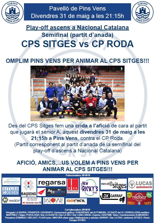 CPS SItges Vs CP Roda (Semifinal play-off d'ascens a Nacional Catalana)