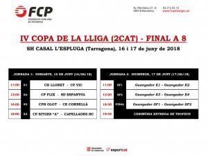 Final a 8 copa lliga 2a catalana 2018 hoquei patins
